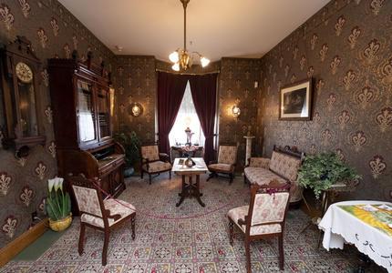 The living room at the Maison Alphonse-Desjardins.