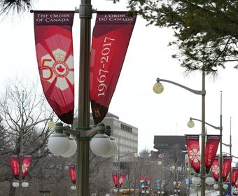 Order of Canada 50th anniversary banners