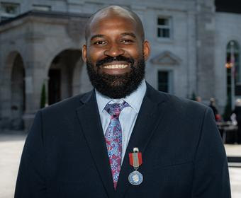 Mark Simms, recipient of the Sovereign's Medal for Volunteers